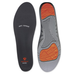 The Sof Sole® Work Insole provides arch support and reduces impact on the hardest surfaces.