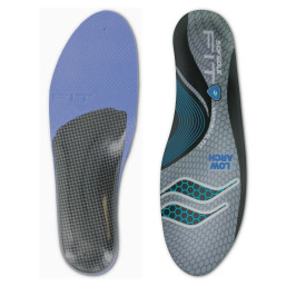 The Sof Sole® FIT Series Low Arch Insole is designed for those with low or fallen arches and flat feet.