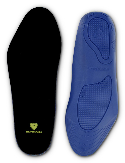 The Sof Sole® Memory™ Insole, constructed with Sof Recall™ memory foam, completely conforms to your foot.