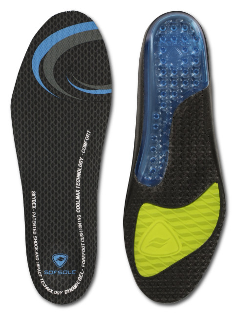 The Sof Sole® Airr Insole provides ultimate shock absorption and arch support for sore feet.
