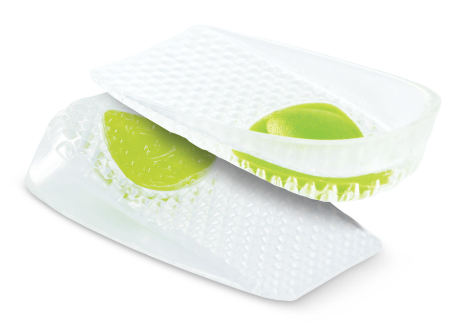 The Sof Sole® Gel Heel Cup™ Insole offers gel cushion comfort to provide heel pain treatment.
