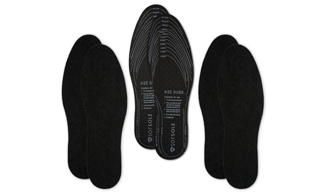 The Sof Sole® Deodorizing Insole (3-Pack) is versatile enough to fit in all your shoes while being tough enough to fight odor.