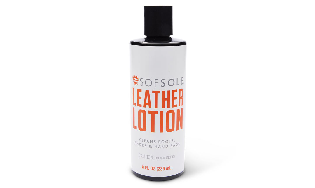 Sof Sole® Leather Lotion cleans and conditions leather products. Ideal for leather boot care, footwear, and more.