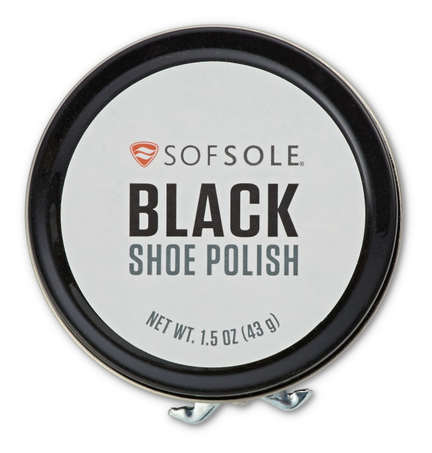 Sof Sole® Shoe Polish (Black) is a leather cleaner and conditioner that helps your favorite shoes shine.