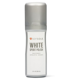Sof Sole® White Sport Polish is a no mess liquid polish shoe cleaner that helps restore athletic and casual shoes.