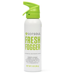 Sof Sole® Fresh Fogger is a fast-acting deodorizing spray that destroys odors in shoes, athletic gear, and more.