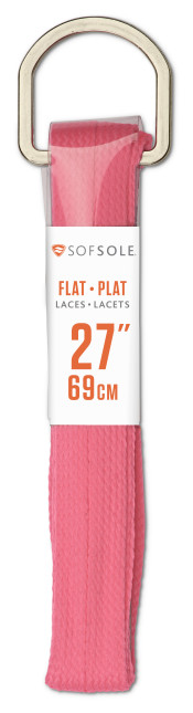 Sof Sole® Kids Athletic Flat Laces (Neon Pink) are a classic choice for all athletic or casual shoes.