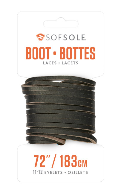 Sof Sole® 72 Inch Leather Boot Laces (Natural) for work and casual boot lace replacement.