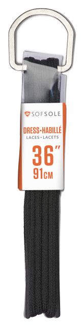 Sof Sole® Dress Laces are sleek replacement shoelaces for dress or casual shoes.