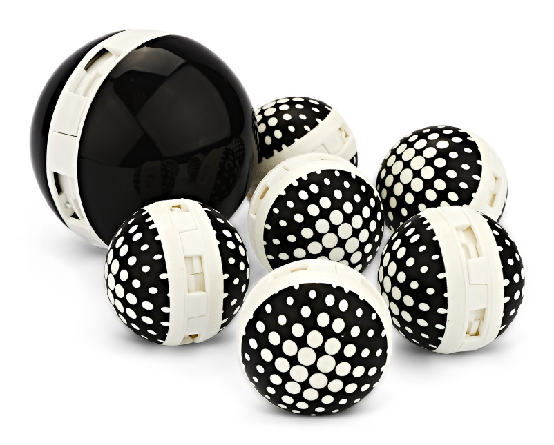 Sof Sole® Sneaker Balls have six standard size balls and one large sneaker ball to mask odors and freshen shoes.