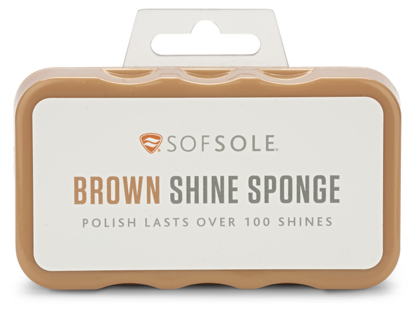 The Sof Sole® Instant Shine Sponge provides shoe care for cleaning and shining leather, synthetic leather, and vinyl.